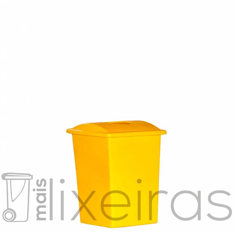 Lixeira plástica 40 litros - Tampa com abertura central