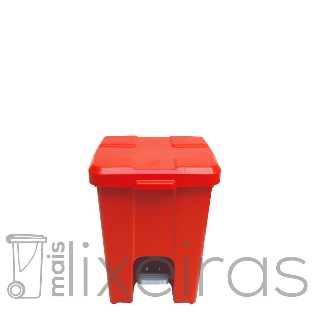 Lixeira plástica colorida com pedal - 15 litros