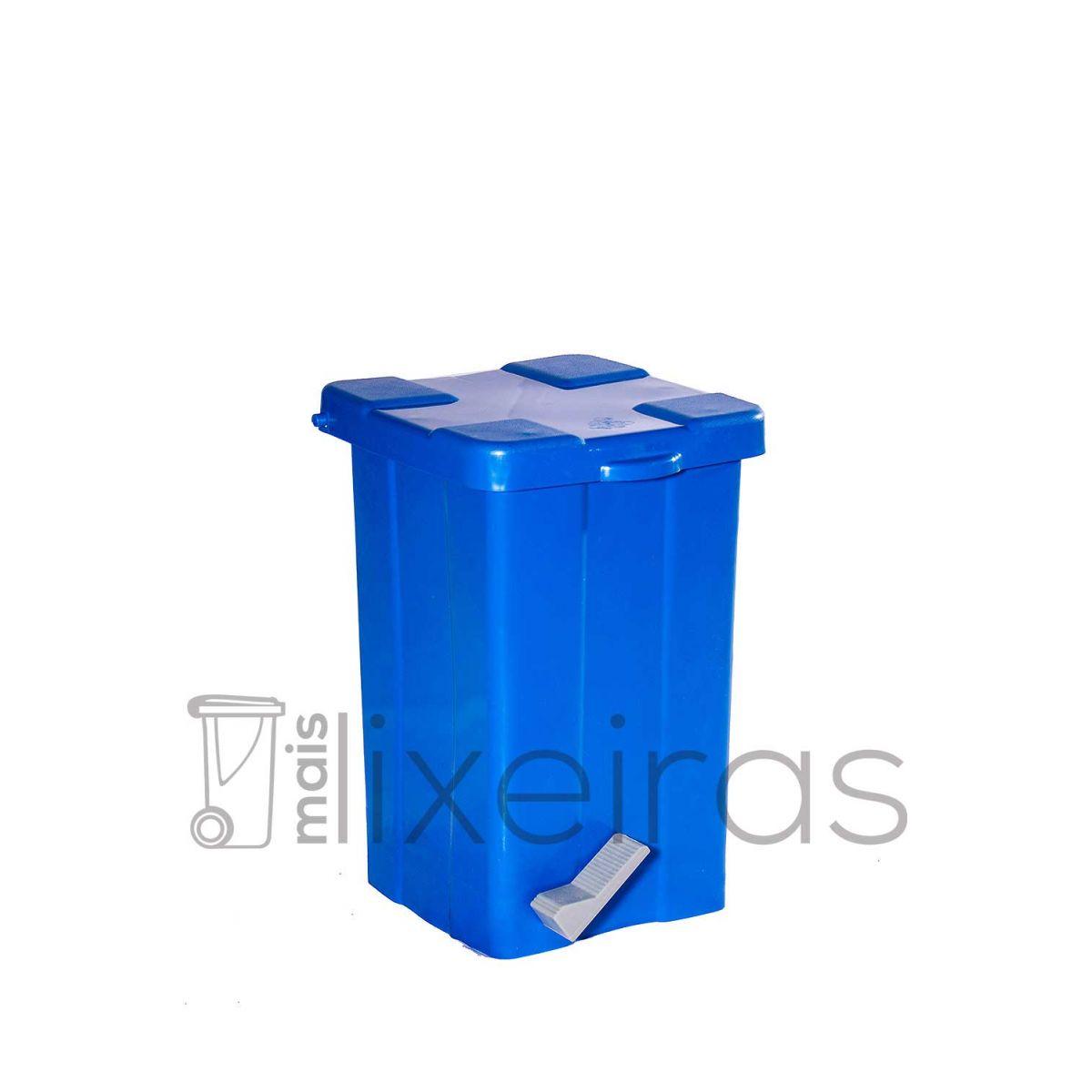 Lixeira plástica colorida com pedal - 25 litros