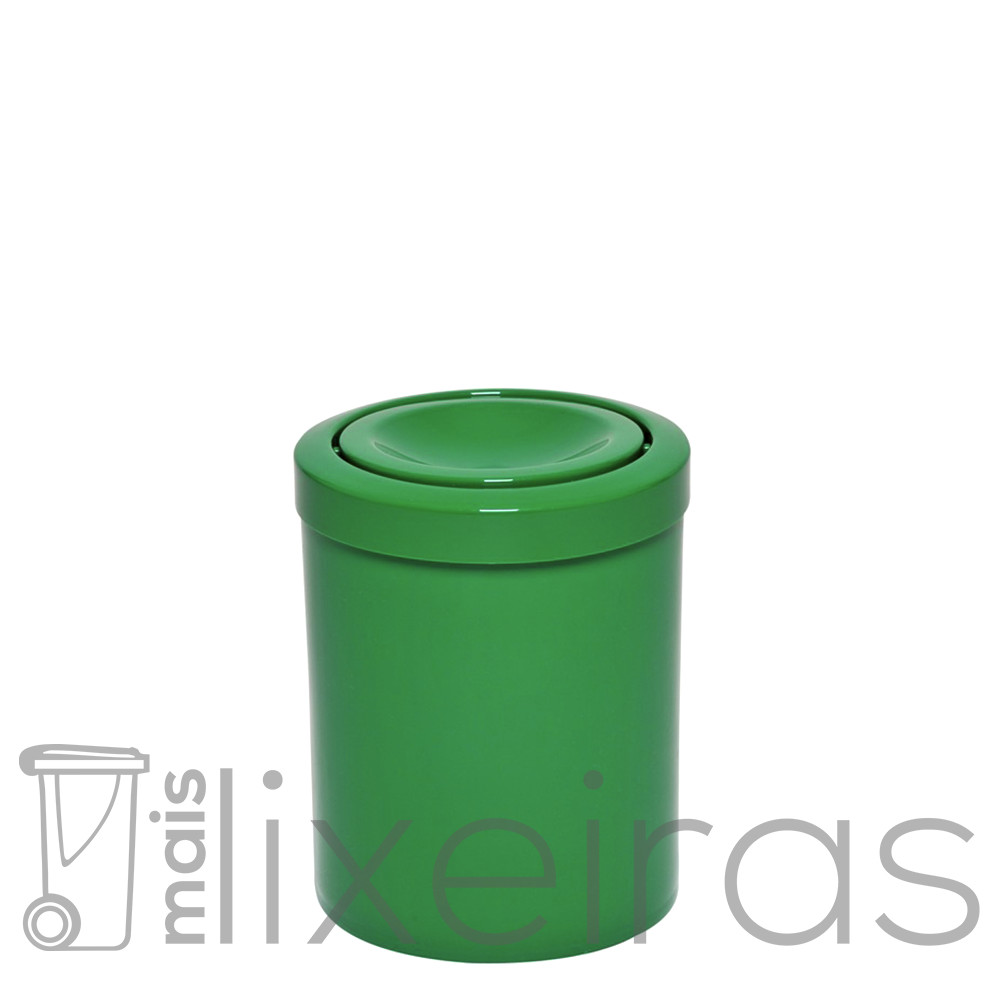 Lixeira plástica com tampa flip top - 14 litros