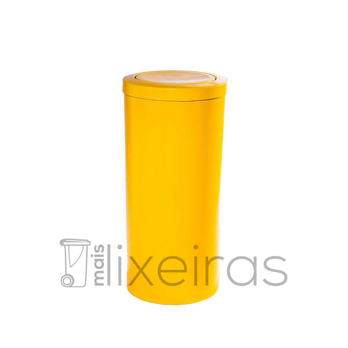 Lixeira plástica com tampa flip top - 25 litros