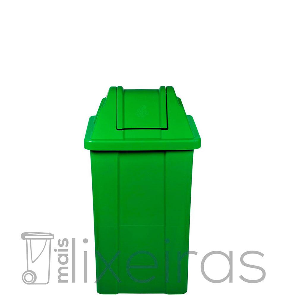 Lixeira plástica com tampa vai e vem - 25 litros