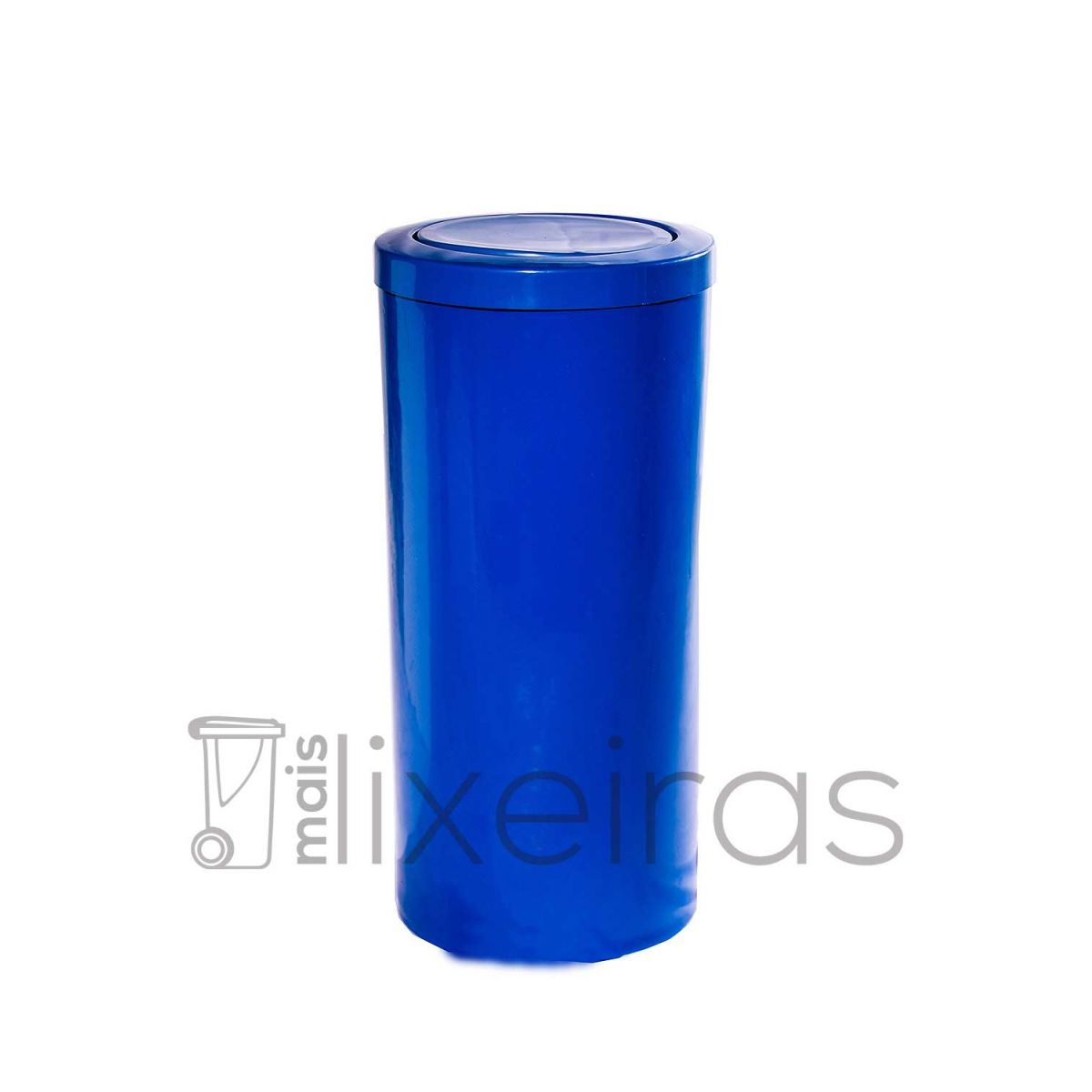Lixeira plástica grande com tampa flip top - 50 litros