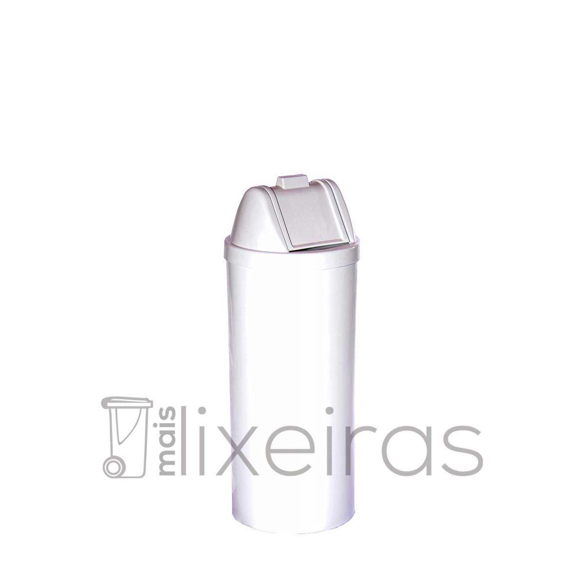 Lixeira plástica redonda com tampa vai e vem - 50 litros