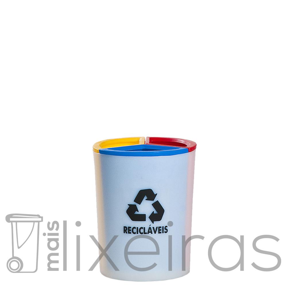 Lixeira Seletiva MIX 3 em 1 (30 litros)