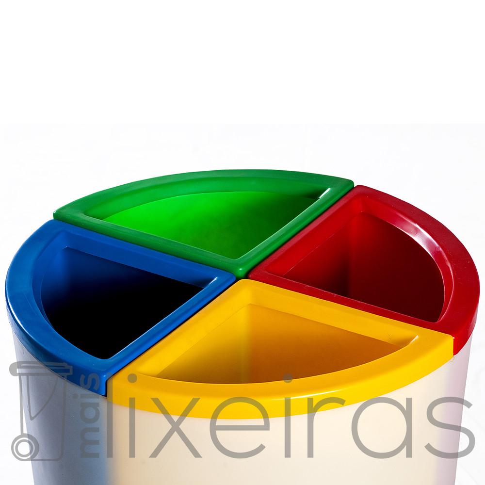 Lixeira Seletiva MIX 50 Litros com 4 Divisórias