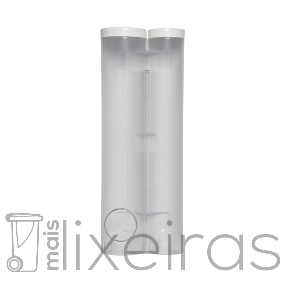 Suporte duplo para copos descartáveis de água e café