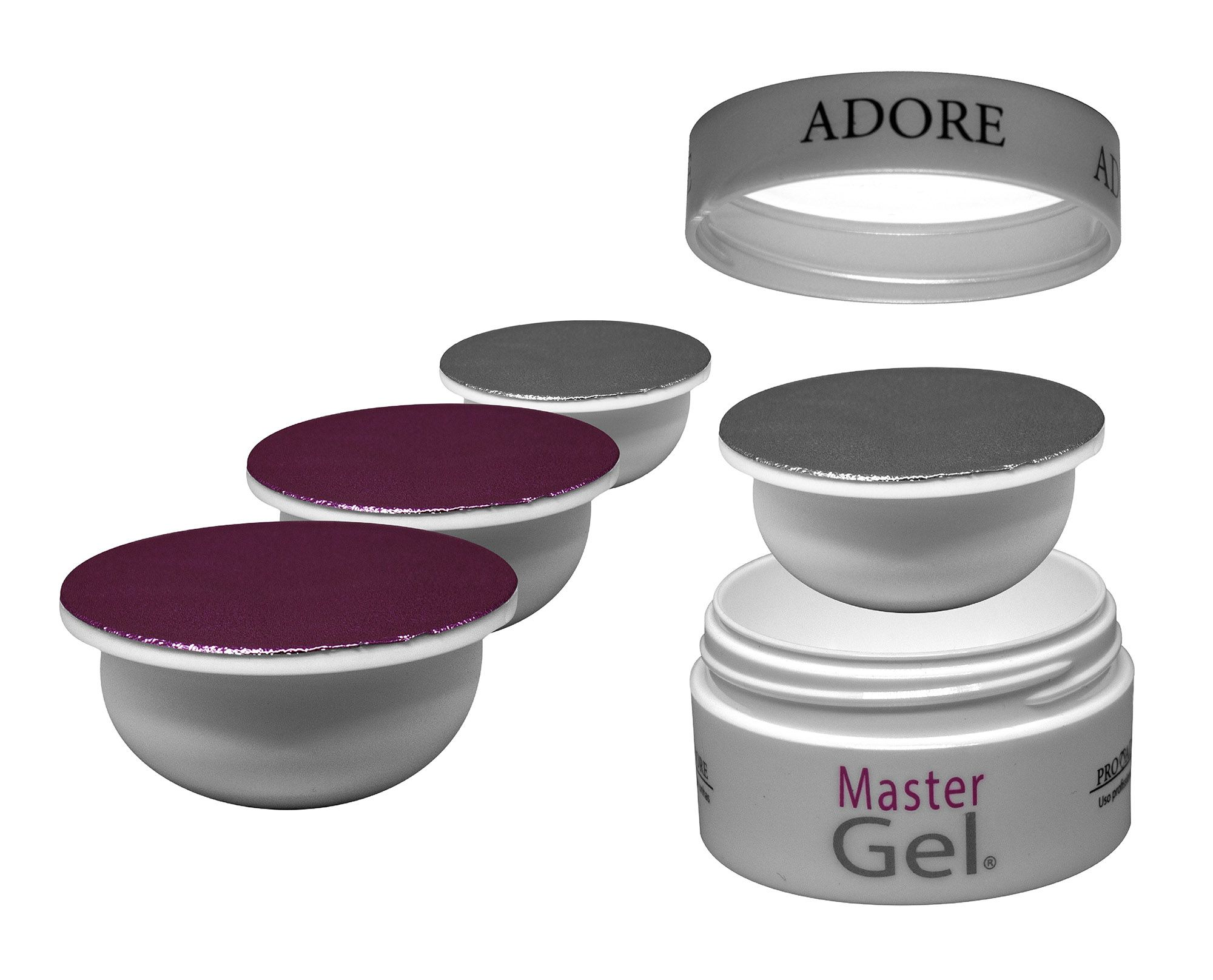 Kit Refil - 2 Adore Master Gel Pink + 2 Adore Master Gel Clear