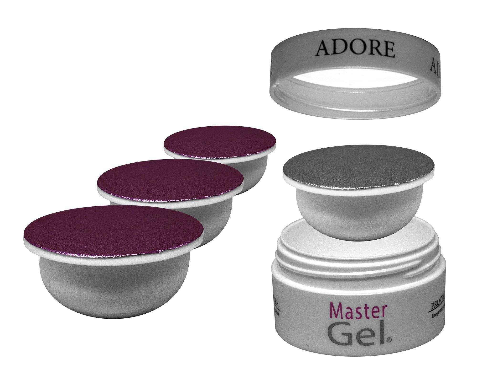 Kit Refil - 3 Adore Master Gel Pink + 1 Adore Master Gel Clear