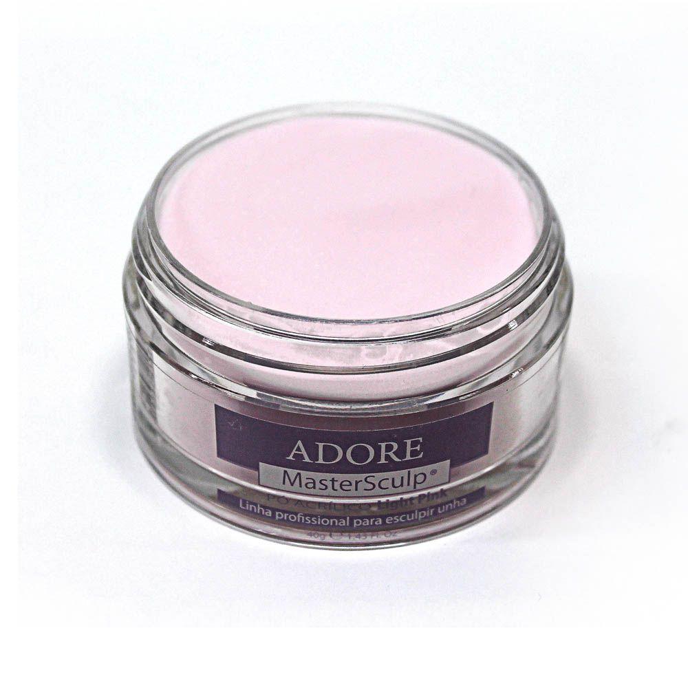 MasterSculp Pó Acrílico Light Pink - Pote 40g