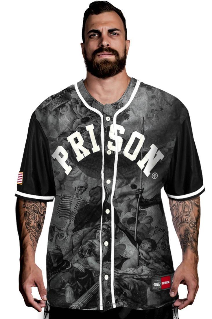 Camisa de Baseball Romano Prison Preta