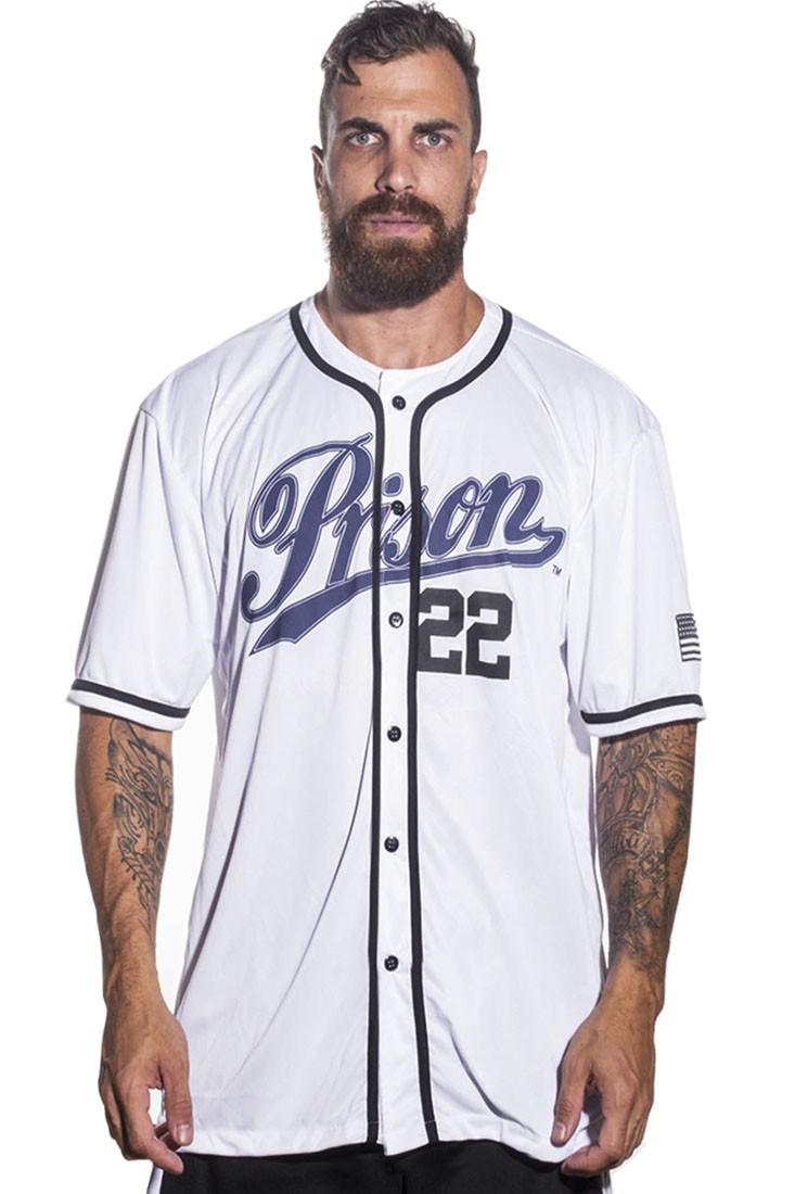 Camisa Baseball Yankees Prison Branca