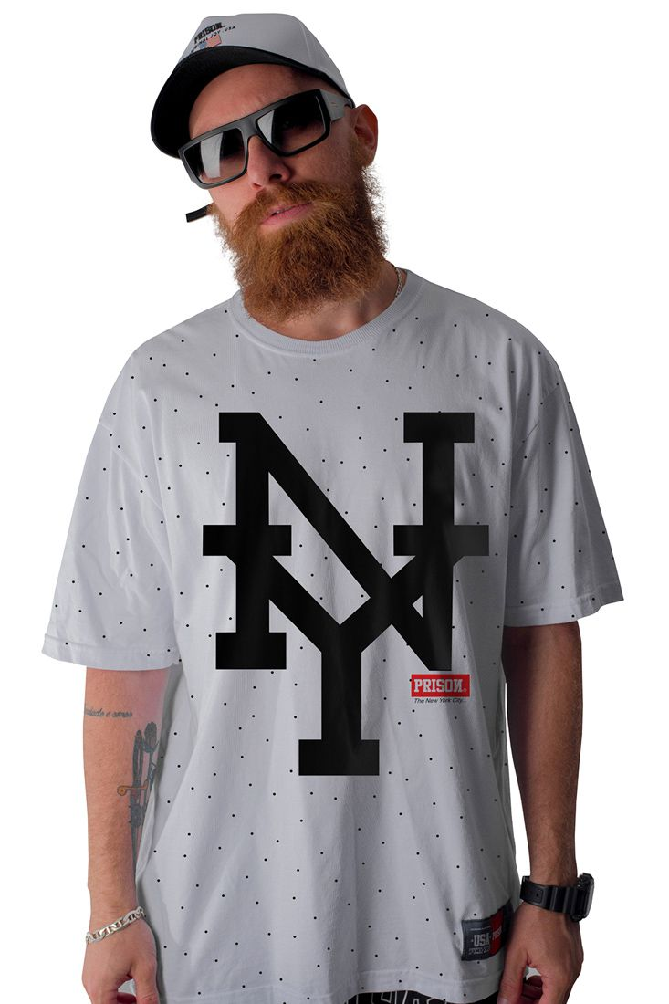 435bd11bc Camiseta Prison Big New York Branca