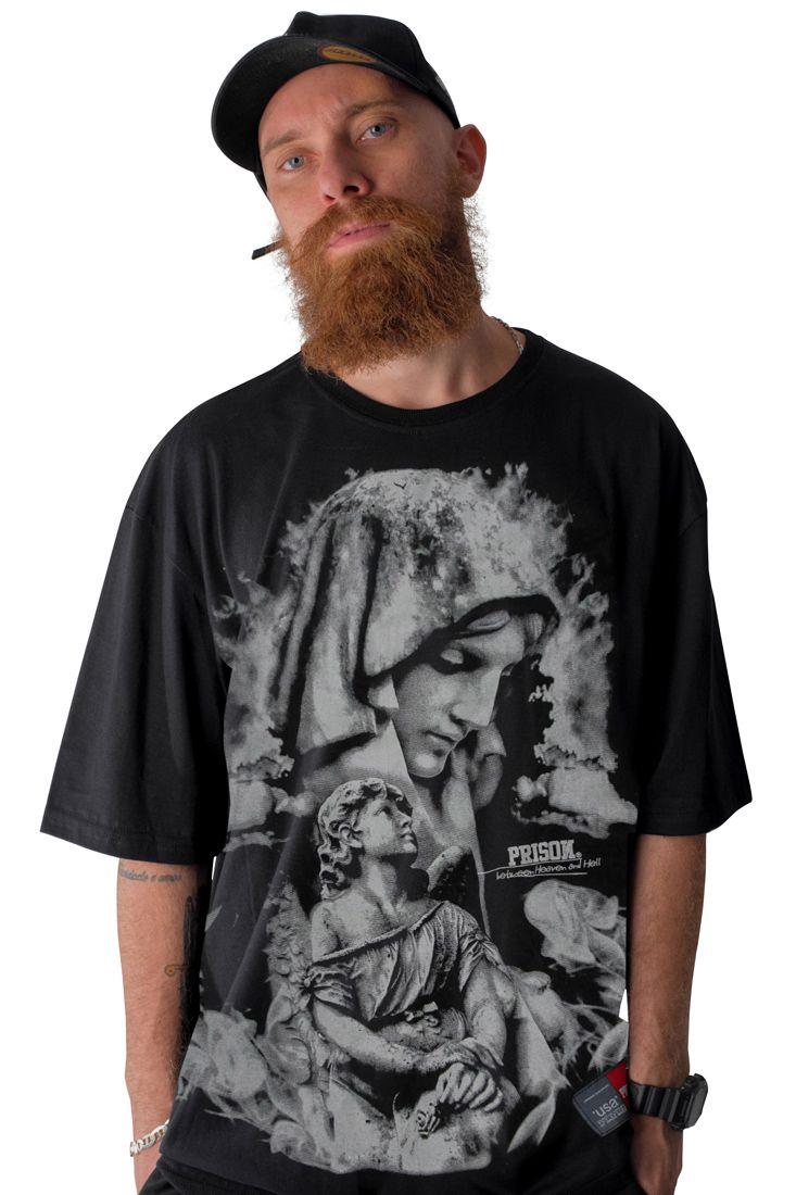 Camiseta Prison Holy Preta 4ece63ac62fbc