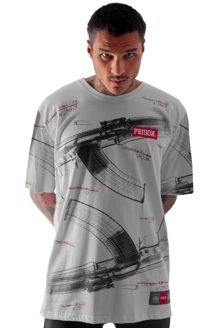 Camiseta Prison Total AK Branca 4a4a5144286aa