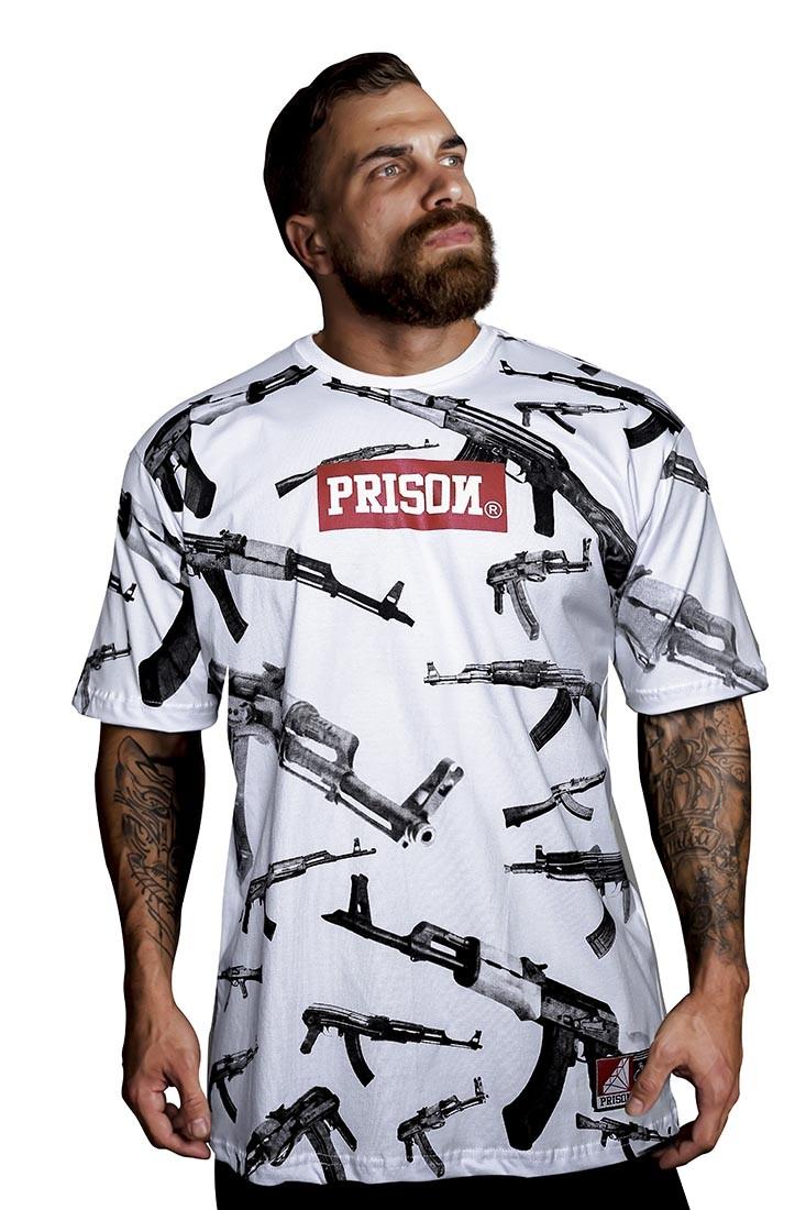 Camiseta Street Ak Prison Branca