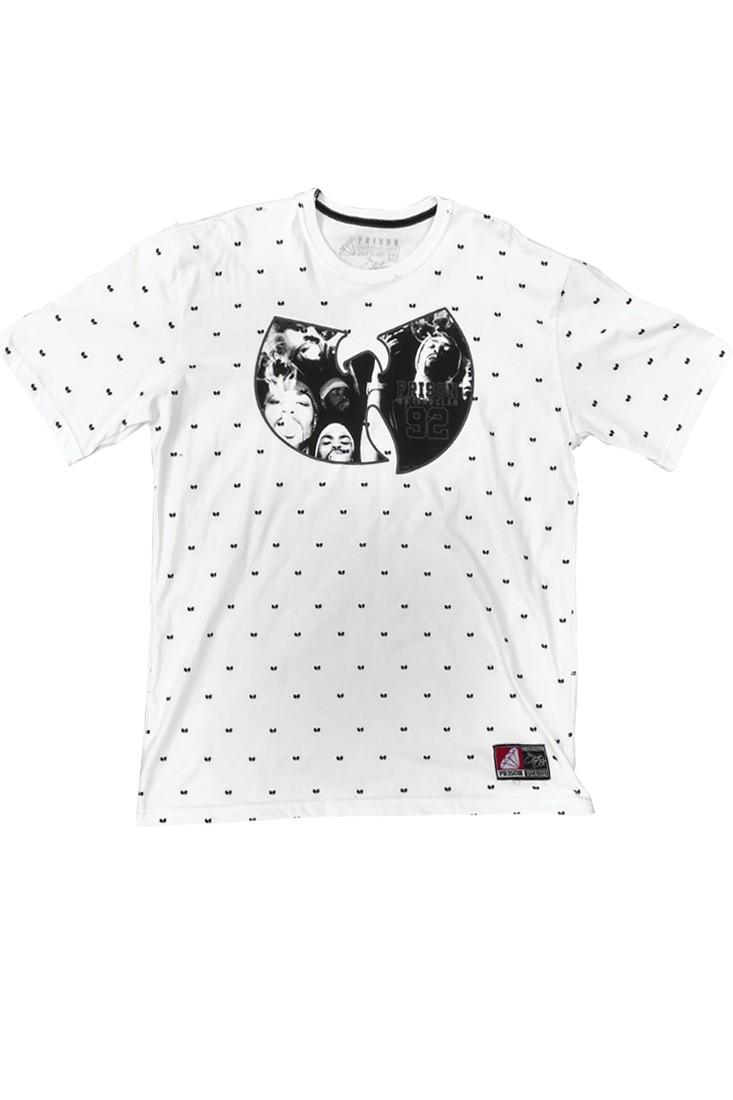 Camiseta wu tang clan Prison Branca