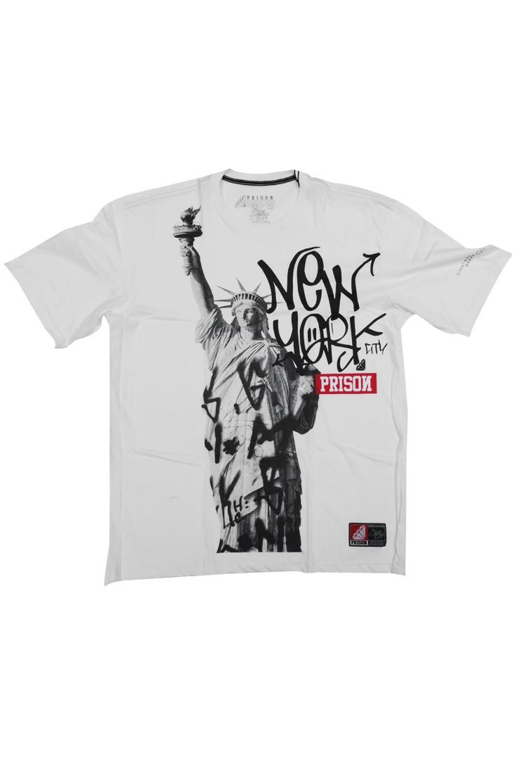 Camisetas streetwear New york Prison Branca
