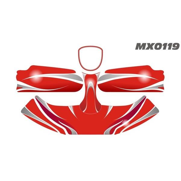 Carenagem Adesivada CBA 2012 MOD 119 - 607  - Mega Kart