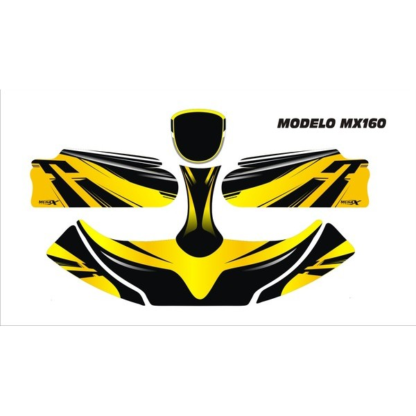 Carenagem Adesivada Conj. CBA 2012 Mod. 160 - 607  - Mega Kart