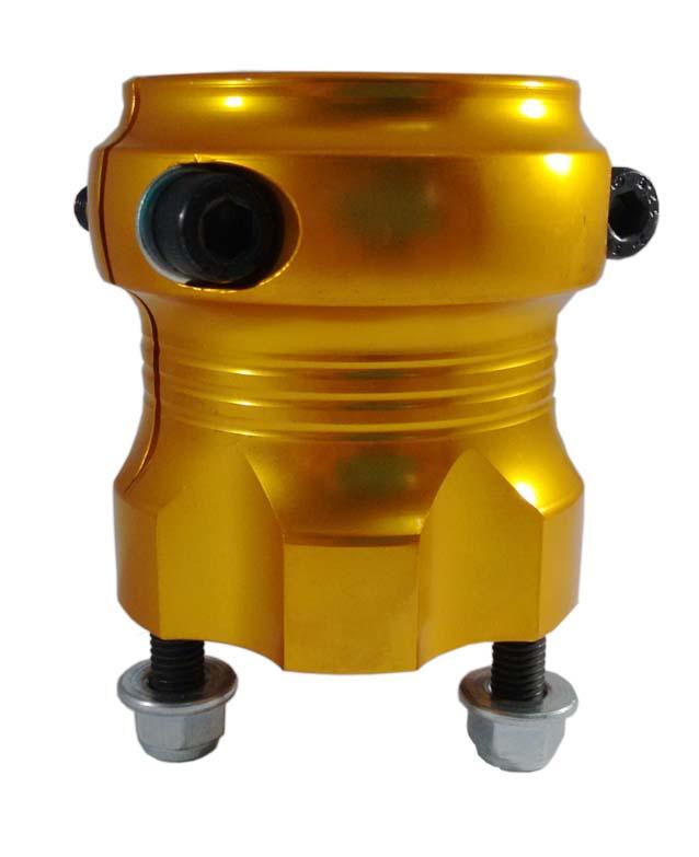 Cubo Roda Traseira Especial 50 Longo Ouro Alumínio - 298