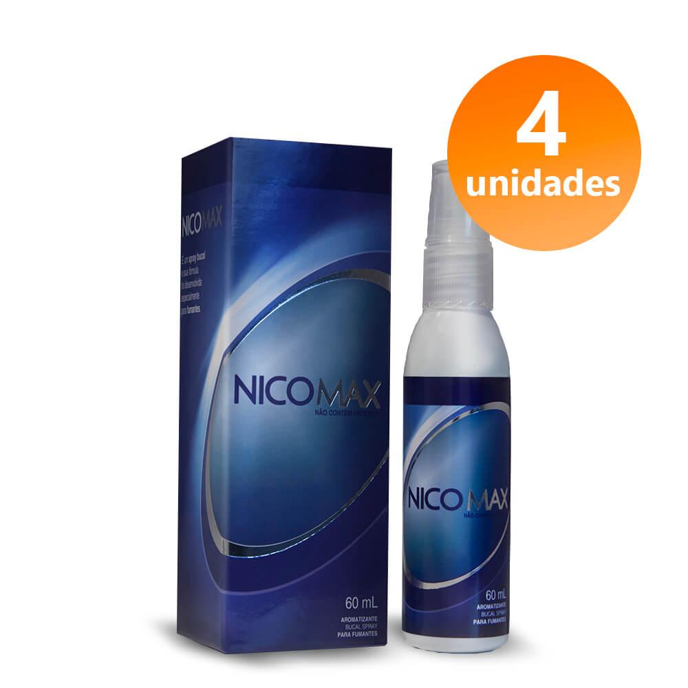 NICOMAX - 4 FRASCOS + FRETE GRÁTIS