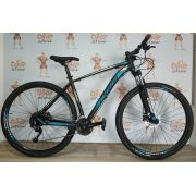 Bicicleta OGGI Big Wheel 7.0 aro 29 2019 - 27V Shimano Altus - Freio hidráulico - Preto/Azul