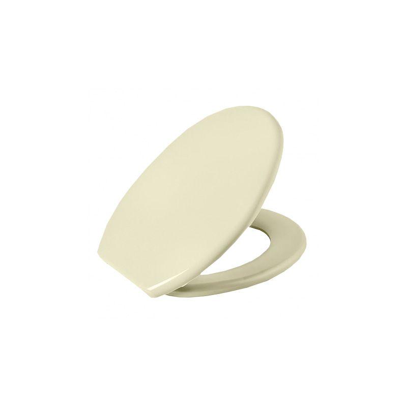 Assento Sanitário Plástico Oval Soft Bege 5 Astra