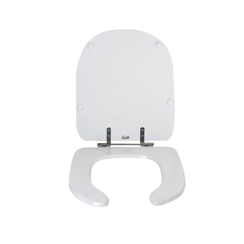 Assento Sanitário Poliéster Para Louça Deca Vogue Plus Conforto Branco