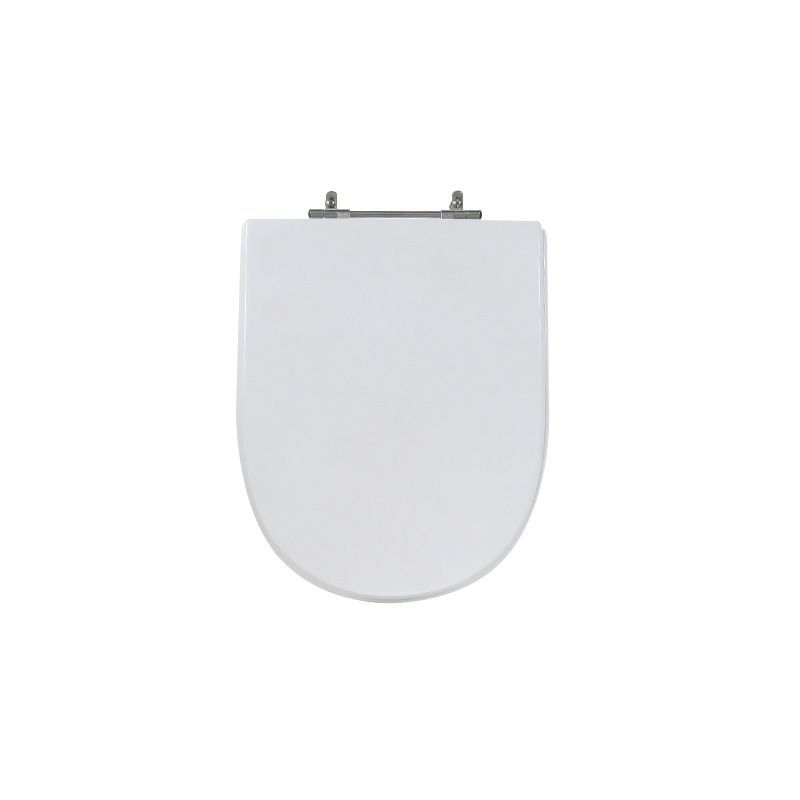 Assento Sanitário Poliéster Para Louça Icasa Firenze Liso Branco
