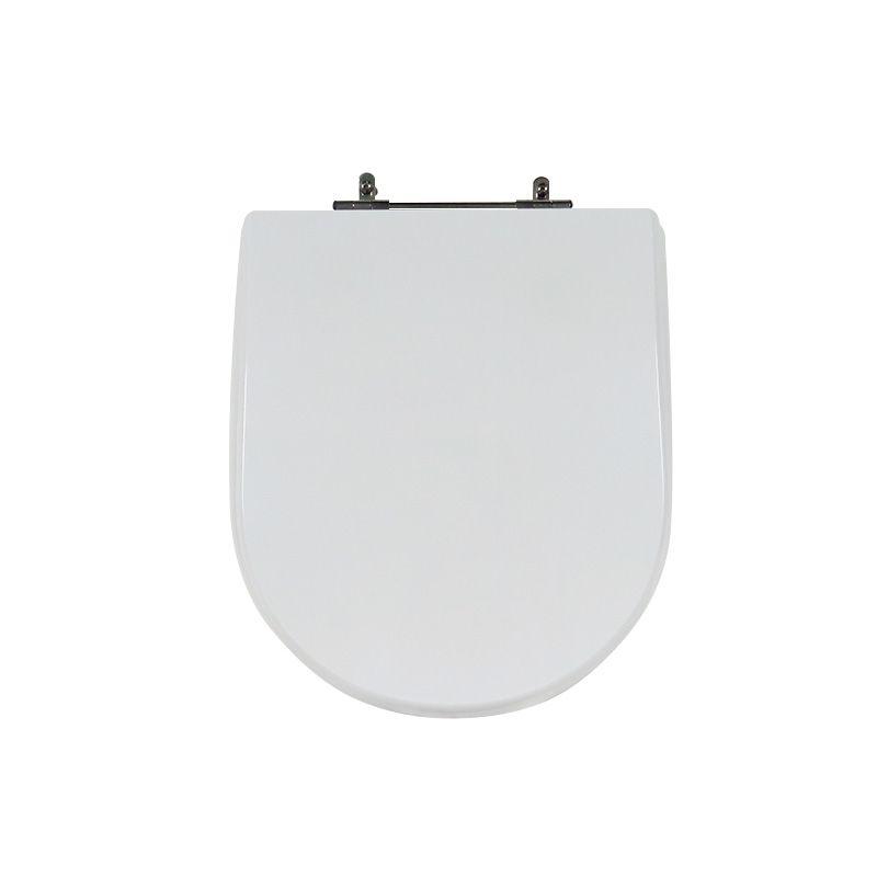 Assento Sanitário Poliéster Para Louça Roca Happening Liso Branco