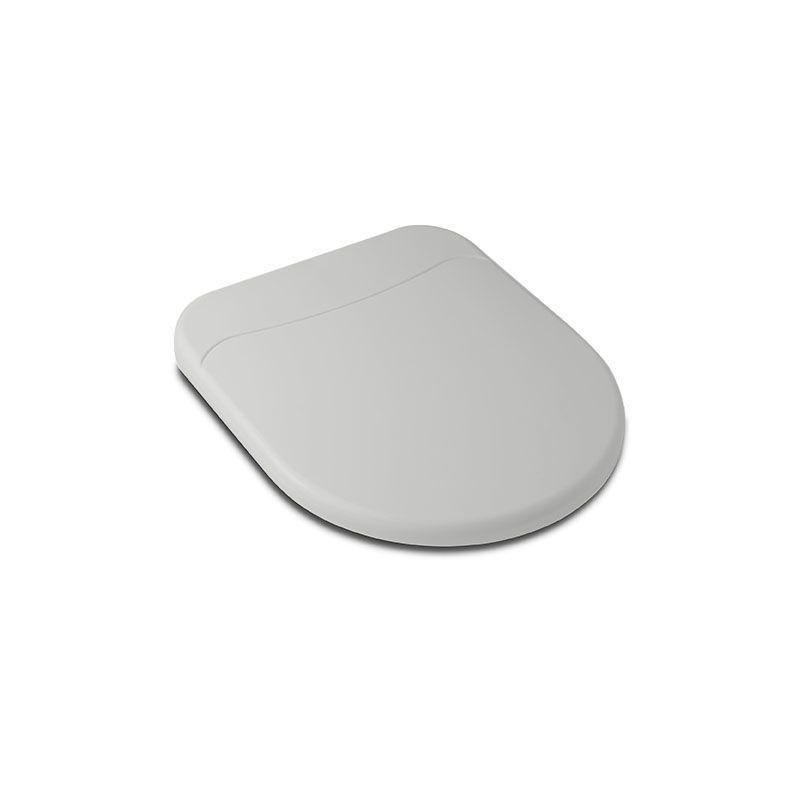 Assento Sanitário Polipropileno Soft Close Riviera/Smart Cinza Prata Celite