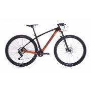 Bicicleta Agile Sport 29 Carbono DEORE 2019 - cor preta e laranja