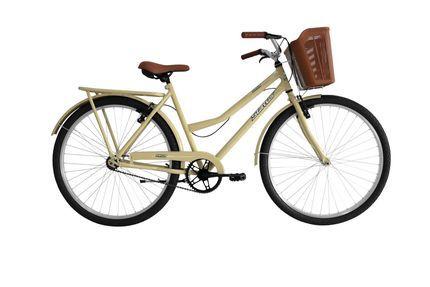 """Bicicleta 26"""" Status Panda Retrô cor bege"""