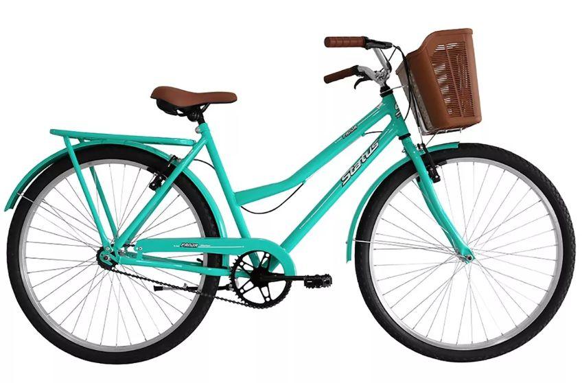 "Bicicleta 26"" Status Panda Retrô cor verde"