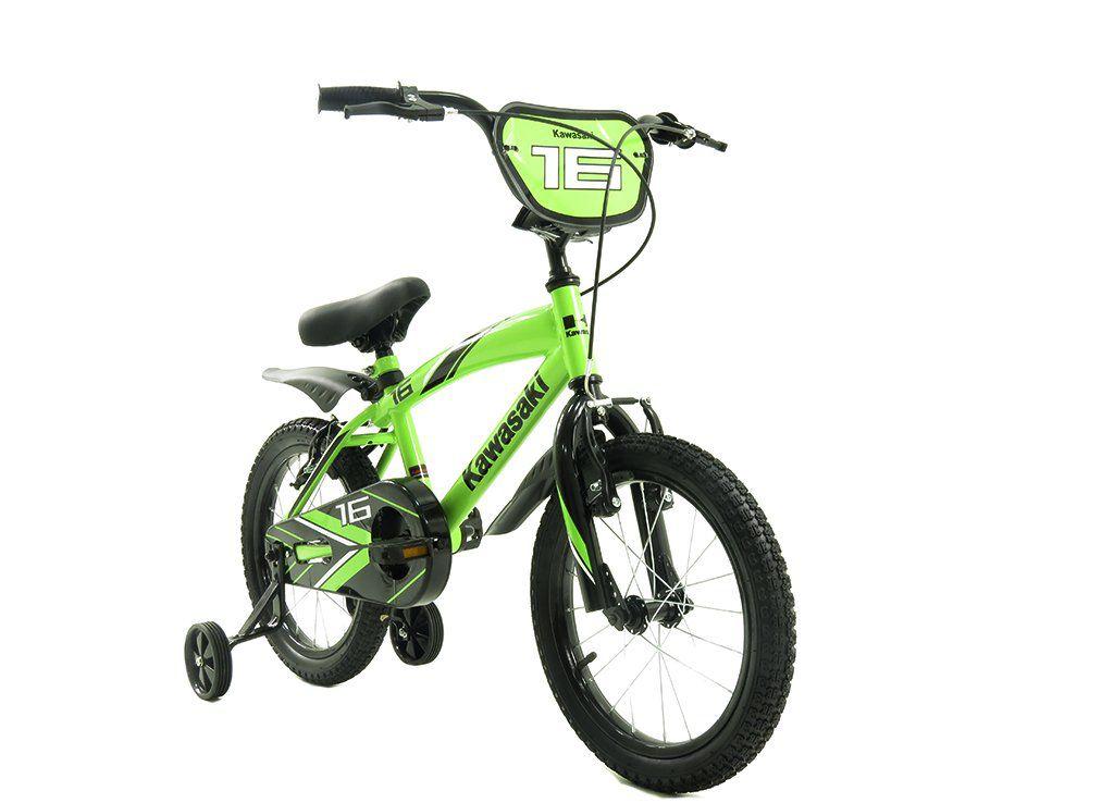 Bicicleta aro 16 Kawasaki cor verde- Infantil