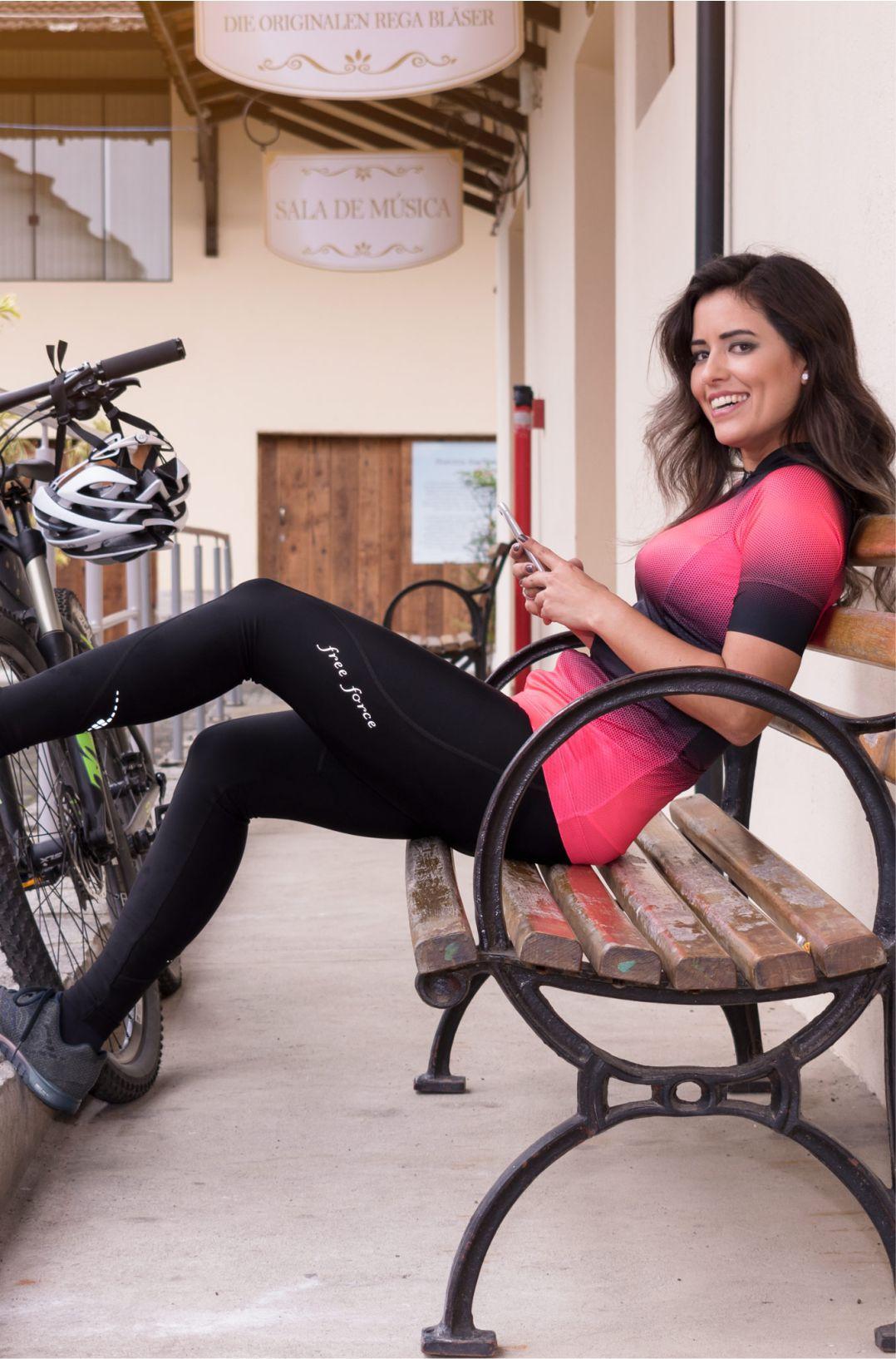 Calça de Ciclismo Feminina Sport Free Force