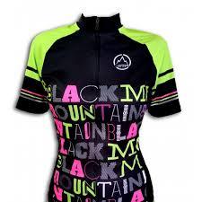 Camisa ciclismo Black Montaim Lettering feminina