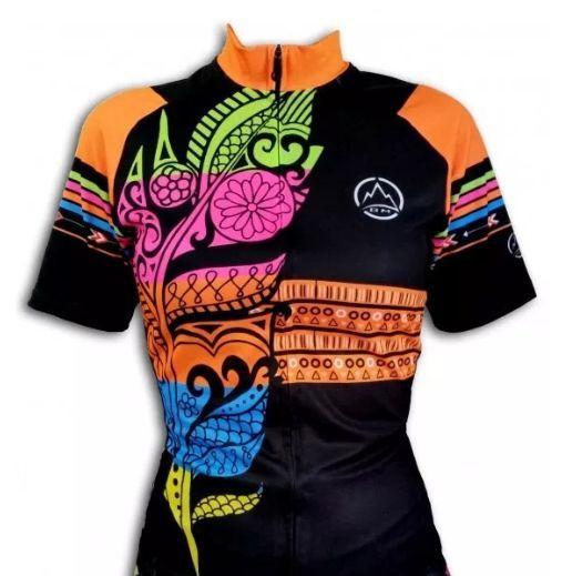 Camisa Ciclismo Black Mountaim Feather Feminina