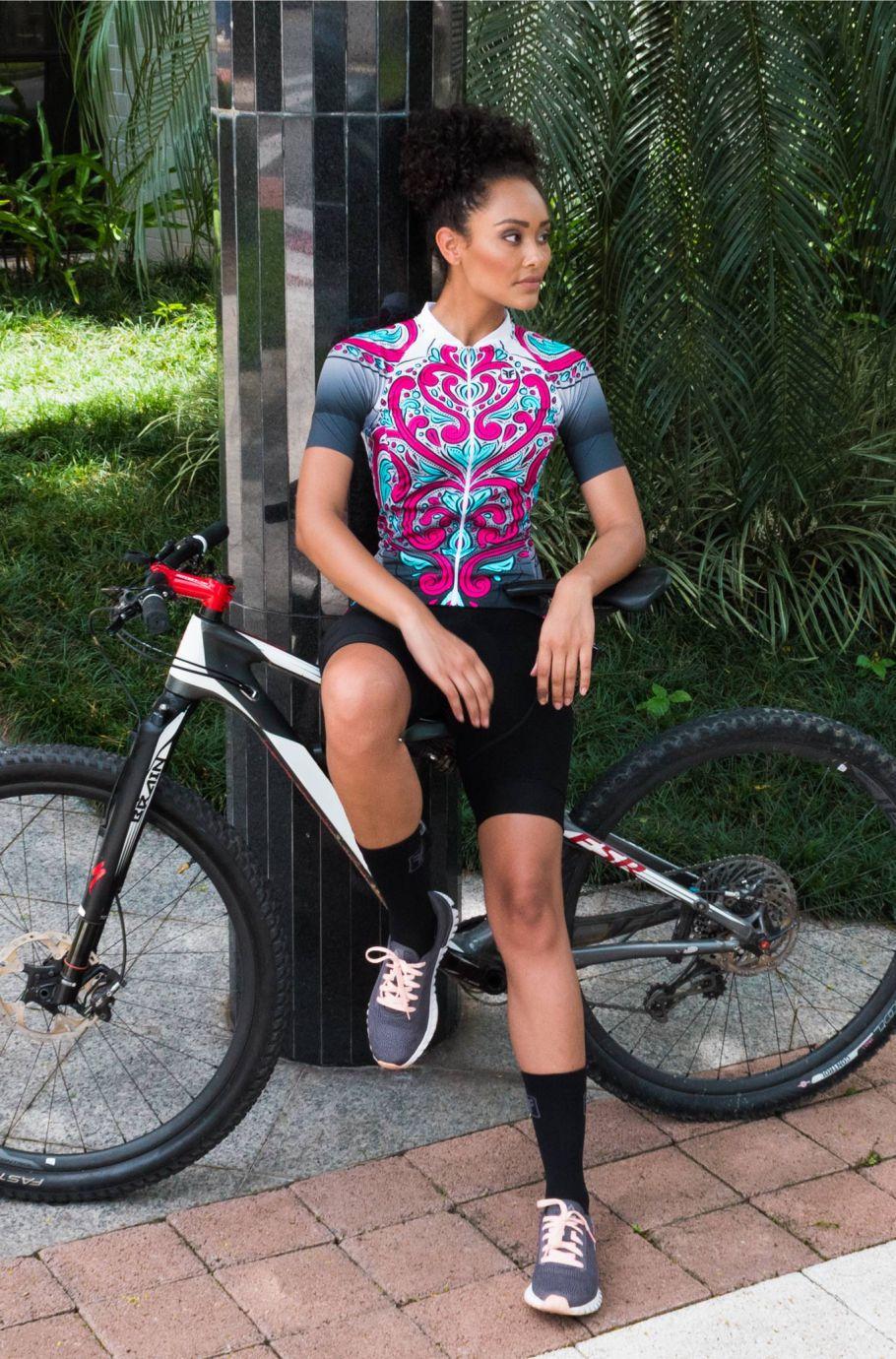 Camisa de Ciclismo Feminina Sport Paradise Free Force