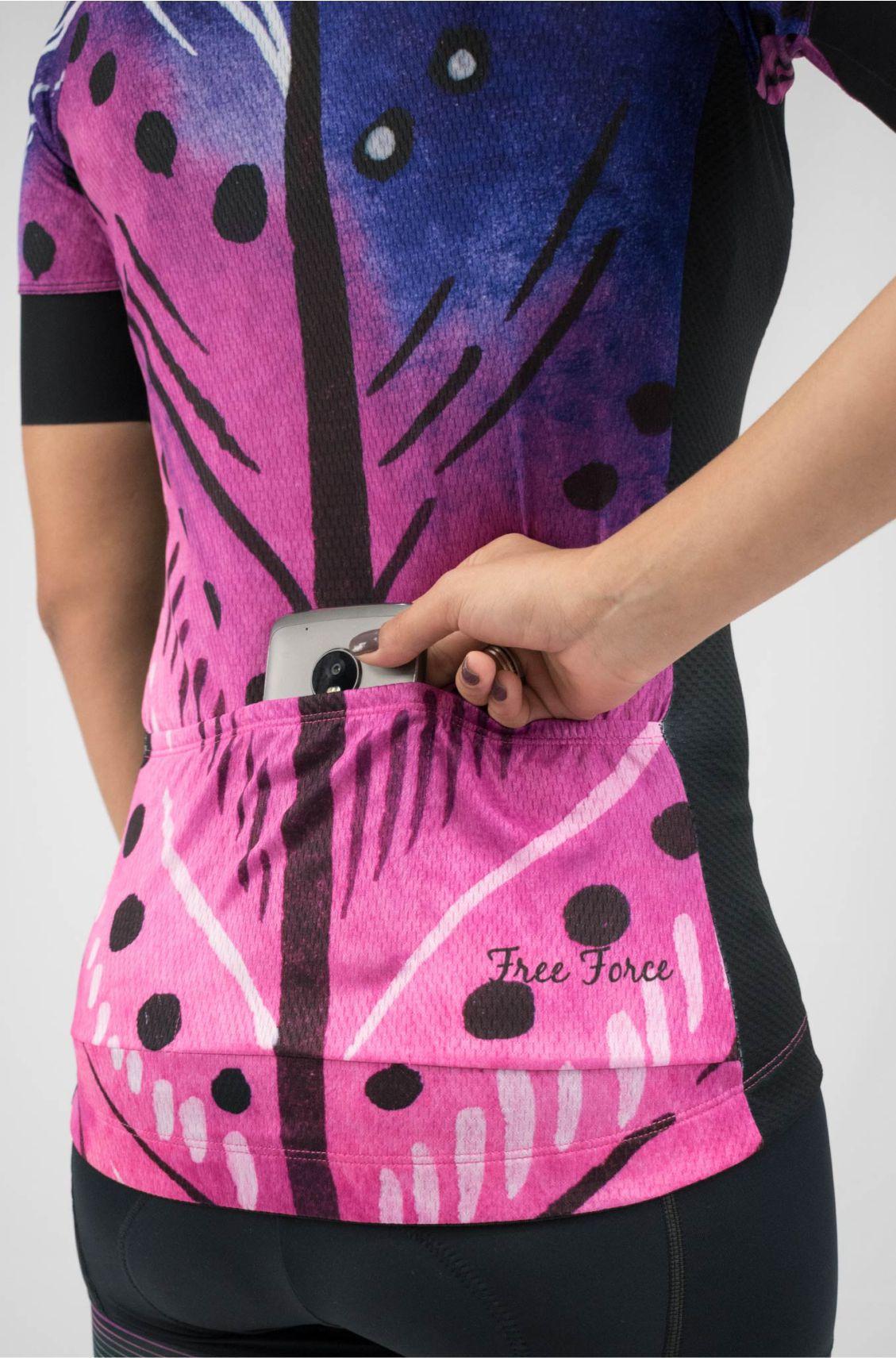 Camisa de Ciclismo Feminina Sport Plume Free Force