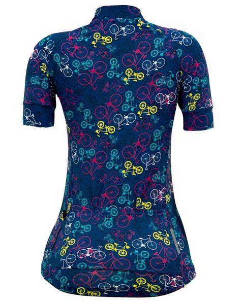 Camisa feminina Fanny Bikes Dark Blue Marcio May