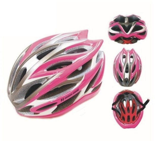 Capacete High One Bike MTB In SV85 Rosa Branco