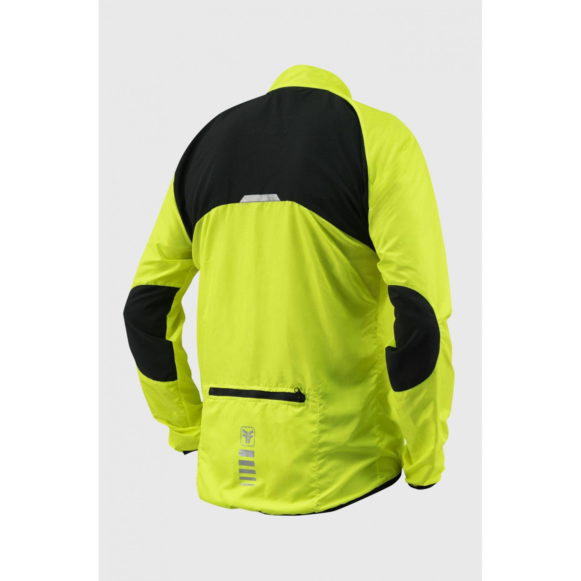 Jaqueta de Ciclismo Masculina Corta Vento Sport Amarelo Fluor Free Force