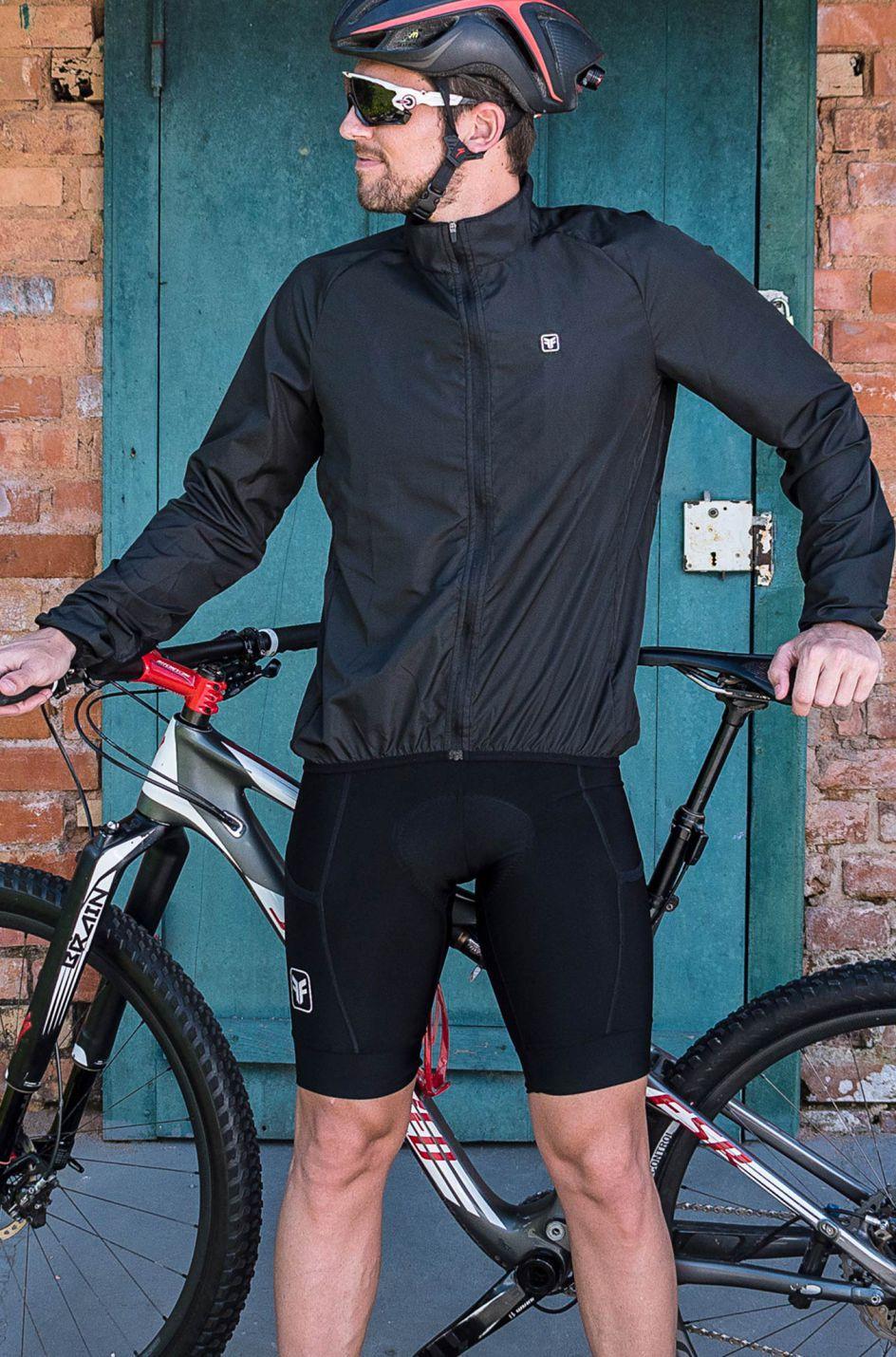 Jaqueta de Ciclismo Masculina Corta Vento Training Dark Free Force