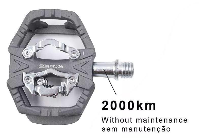 Pedal Sapatilha Zeray Cor Cinza Zp109s