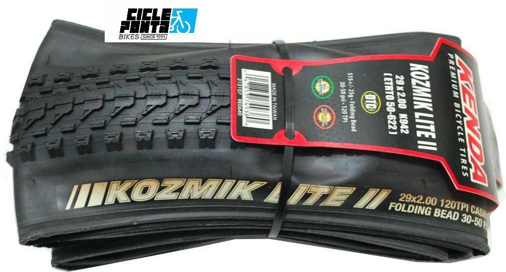 Pneu de bike Kenda 29x2.0 Kozmik Lite-II Dobrável - Kevlar
