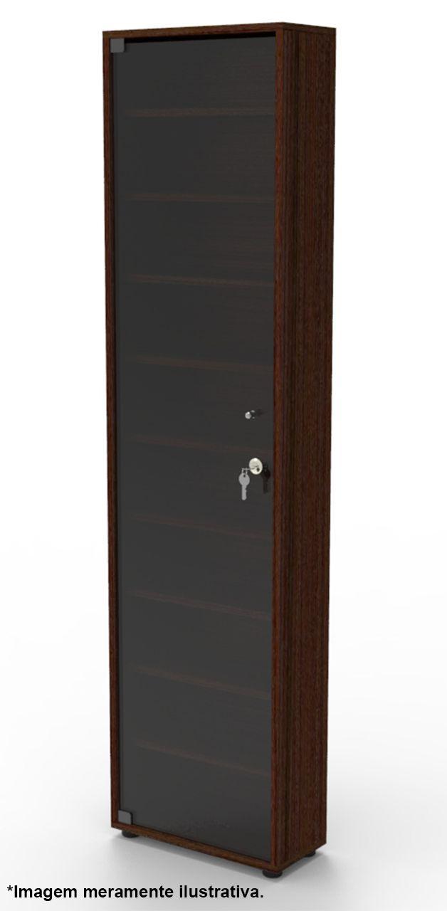 Estante CD01TB com porta de vidro fumê com chave