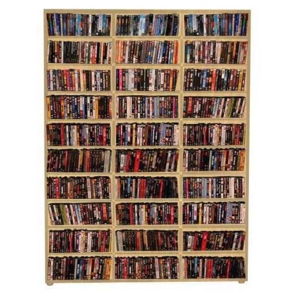 Estante para CD/DVD/Blu-ray/Gibi 525 DVDs/Blu-ray ou 1.020 CDs - Marfim