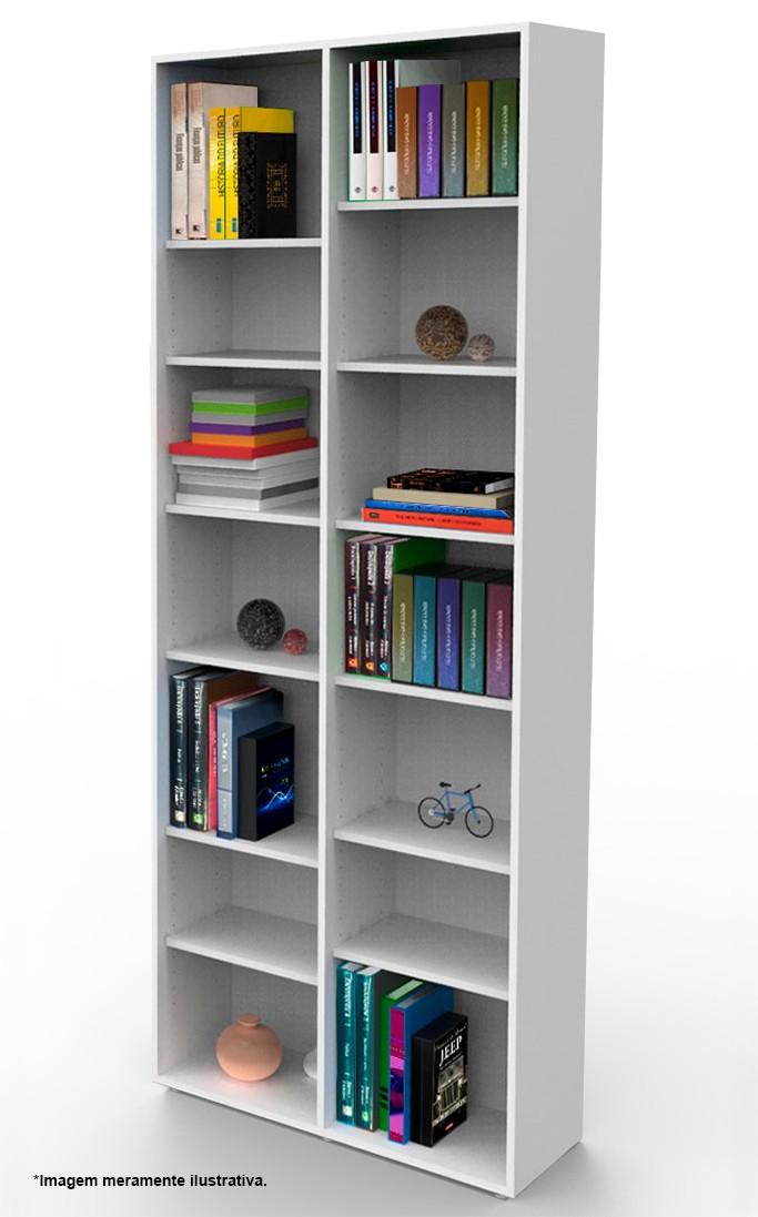 Estante biblioteca para livros 2010x805x280 mm bookcase branca